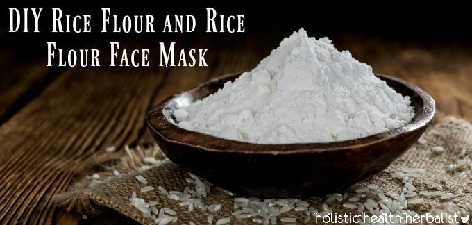 DIY Rice Flour and Rice Flour Face Mask