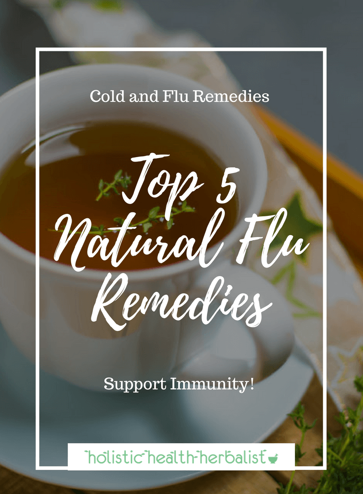 Top Five Natural Flu Remedies - Use these all natural flu remedies to shorten the duration of your cold and relieve symptoms of the flu virus.