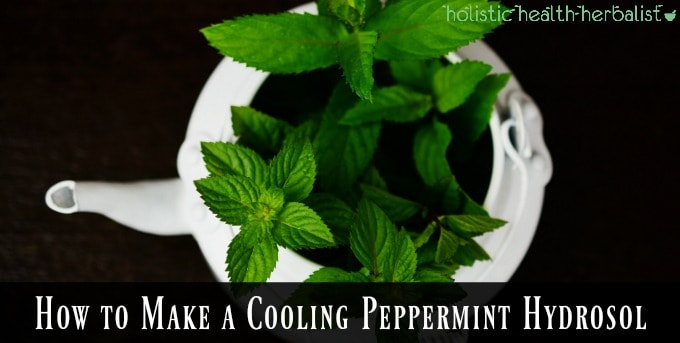 How to Make a Cooling Peppermint Hydrosol