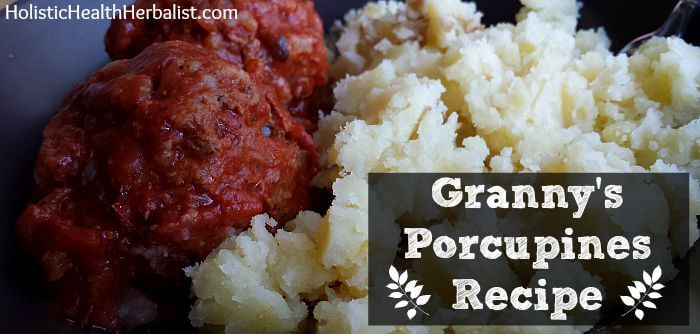 Homemade porcupines recipe.