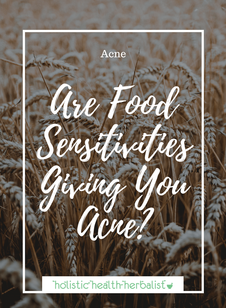 Are Food Sensitivities Giving You Acne? - Find out if your sensitivities and allergies are the root cause of your acne and how to avoid them!