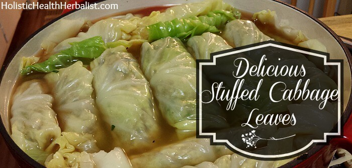 DIY stuffed cabbage leaves