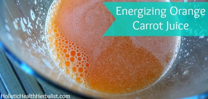 Fresh orange carrot juice recipe.