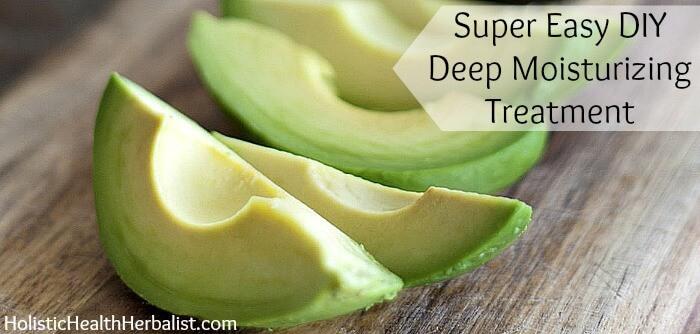 Deep moisturizing treatment recipe using avocados.