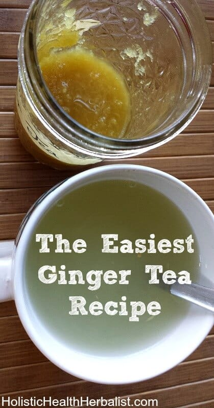 The Easiest Ginger Tea - Learn how to make this amazingly delicious ginger tea that packs a powerful punch against cold and flu or even just when you're feeling chilled.