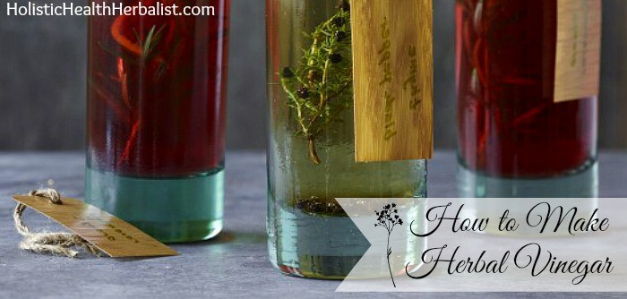 How to make herb infused vinegars.