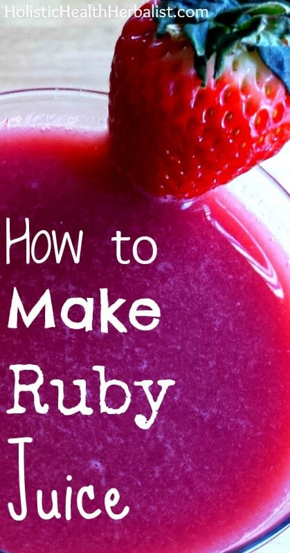 How to Make Ruby Juice - Learn how to make to amazingly complex and delicious ruby juice!