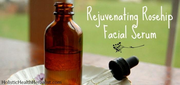 Rejuvenating Rosehip Facial Serum for face