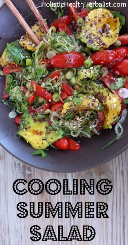 Cooling Summer Salad - Learn how to make this refreshing and delicious salad for the hot summer months to fill you up and cool you down.