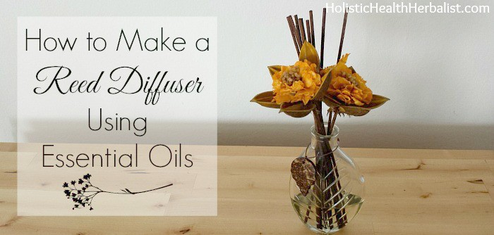 How to make a simple reed diffuser for essential oils.