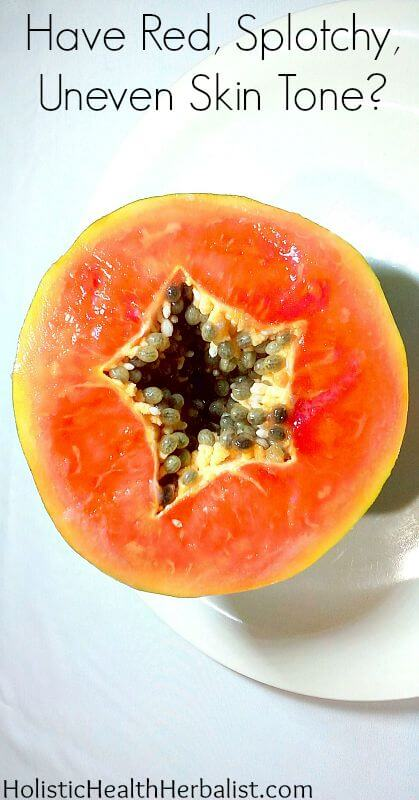 Are Papaya Enzymes the Answer to Banishing Red, Splotchy, Uneven Skin Tone? - Learn how to use fresh papaya to soften dull lifeless skin and reveal a fresh supple complexion!