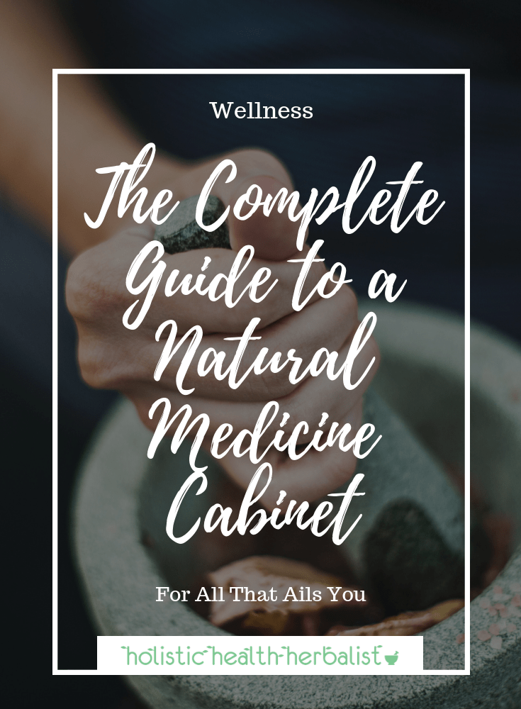 The Complete Guide to a Natural Medicine Cabinet - See all of my favorite products I use for allergies, cold and flu, digestion, sleep, stress, and much more!