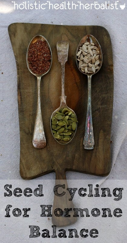 Seed Cycling for Hormone Balance - learn how to use seeds to support reproductive health and balance hormones in tandem with the phases of the moon.