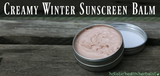 Creamy Winter Sunscreen Balm