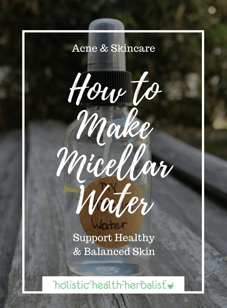 How to Make Micellar Water - Learn how to make this fables beauty staple for cleansing, toning, and moisturizing the skin!