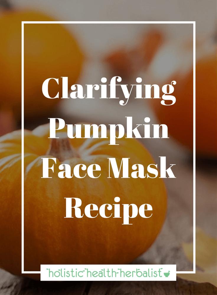 DIY Clarifying Pumpkin Face Mask Recipe for bright, supple, clear skin.