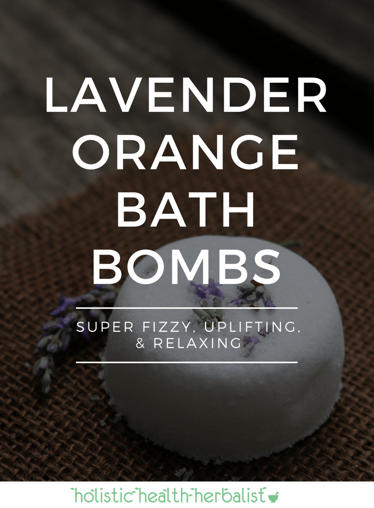 Lavender Orange Bath Bombs - Learn how to make these super fizzy, uplifting, and relaxing bath bombs to give to friends and family as a gift or keep them all for yourself!
