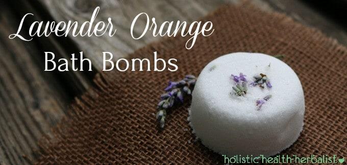 Lavender Orange Bath Bombs