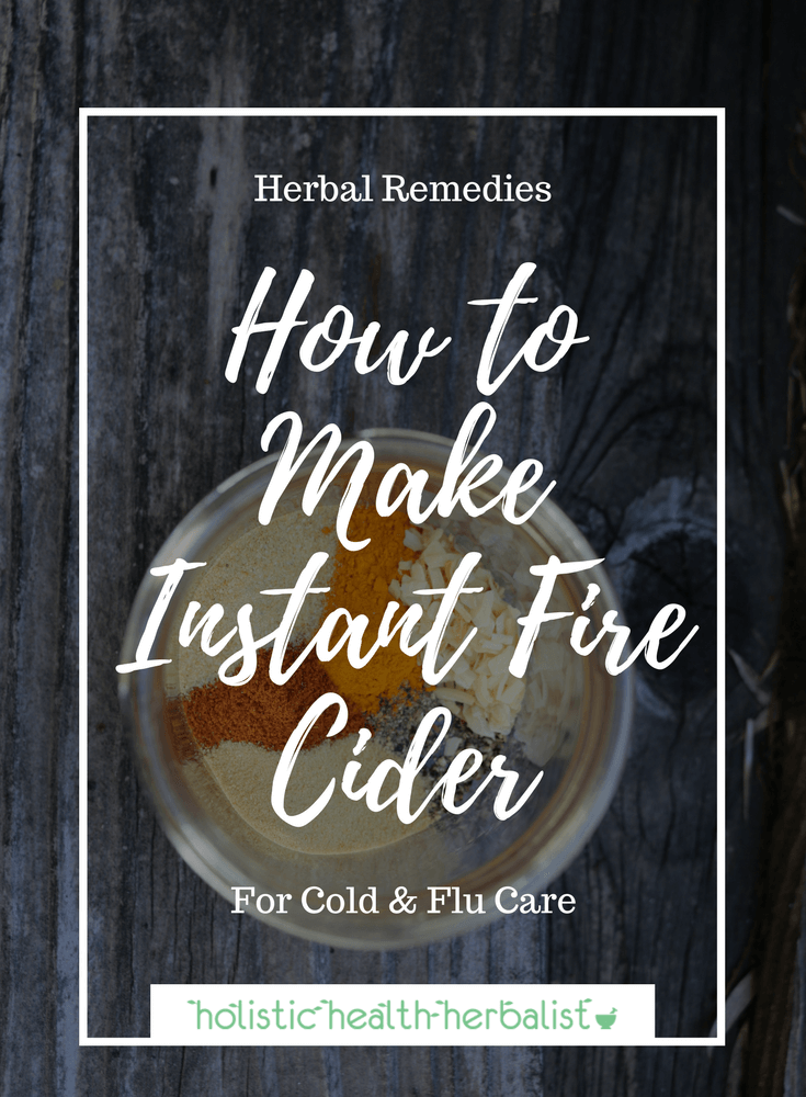 How to Make Instant Fire Cider - Learn how to make fire cider in a fraction of the time so that you can use it immediately for cold and flu prevention and treatment.