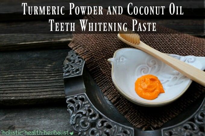 DIY beauty treatments - Turmeric Powder and Coconut Oil Teeth Whitening Paste