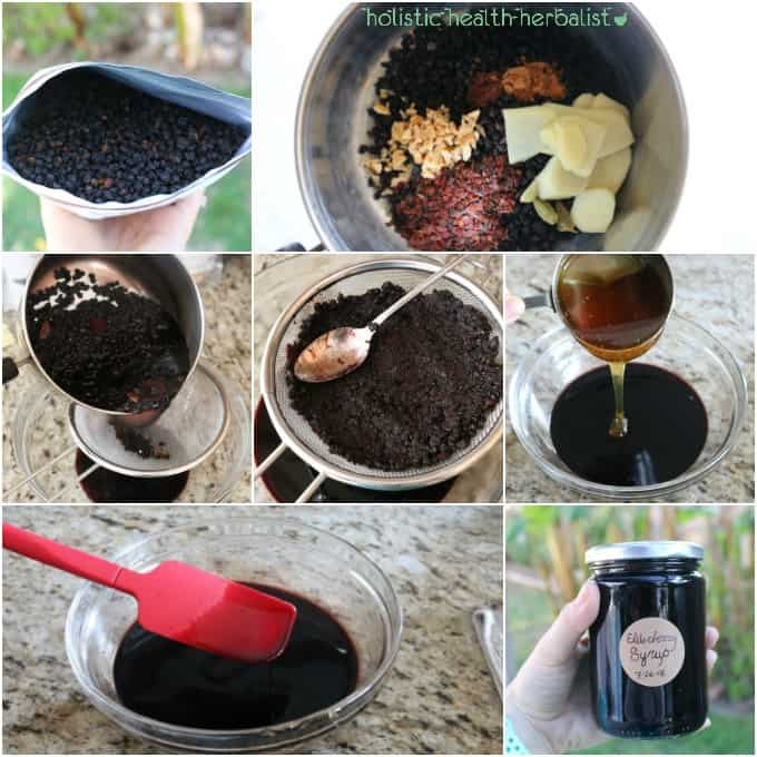 Elderberry Syrup for Cold and Flu