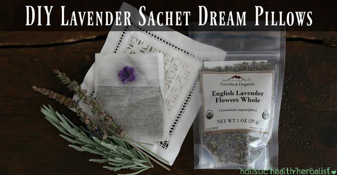 DIY Lavender Sachet Dream Pillows