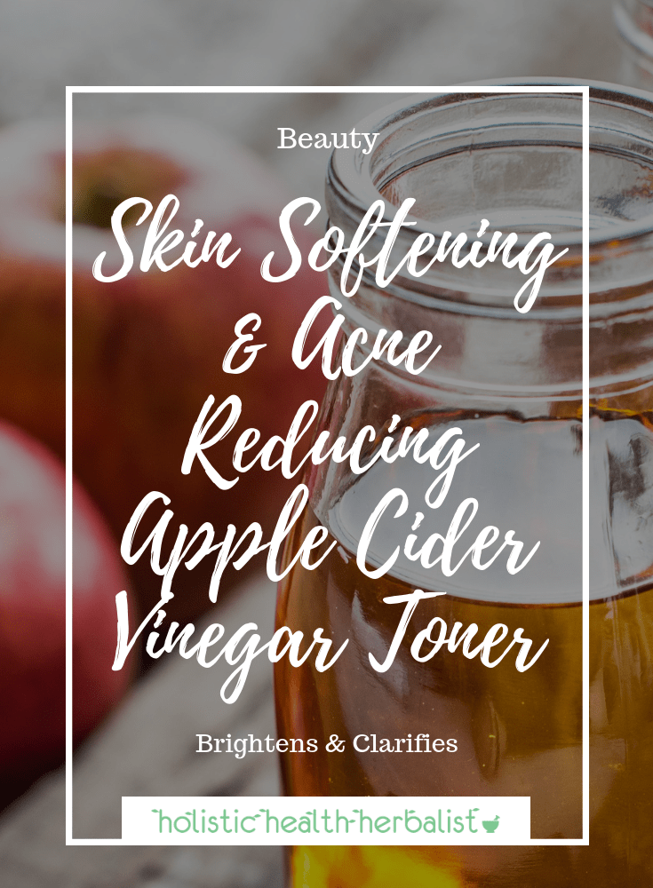 Skin Softening & Acne Reducing Apple Cider Vinegar Toner - Raw apple cider vinegar is the perfect companion for dull, clogged, and uneven skin. It brightens, detoxifies, and clarifies the skin.