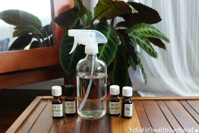 photo of all-purpose essential oil cleaning spray recipe